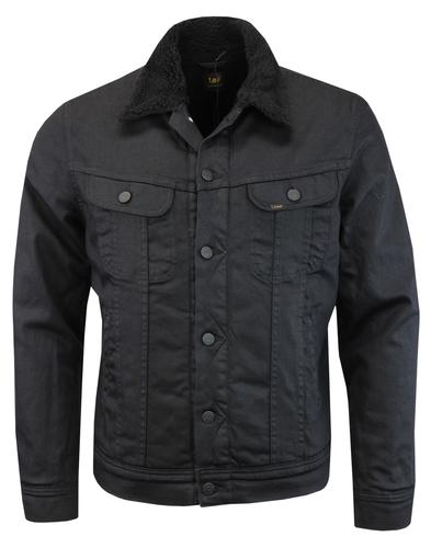 LEE Retro Coated Denim Sherpa Rider Jacket (BG)