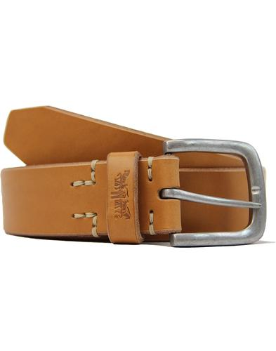 Icon LEVI'S® Retro Leather Horse Logo Stopper Belt