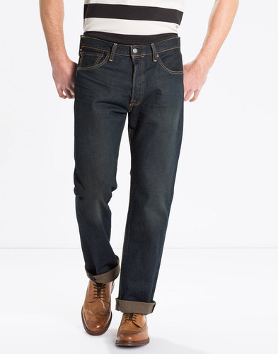 LEVIS 501 ORIGINAL FIT MENS STRAIGHT DENIM JEANS