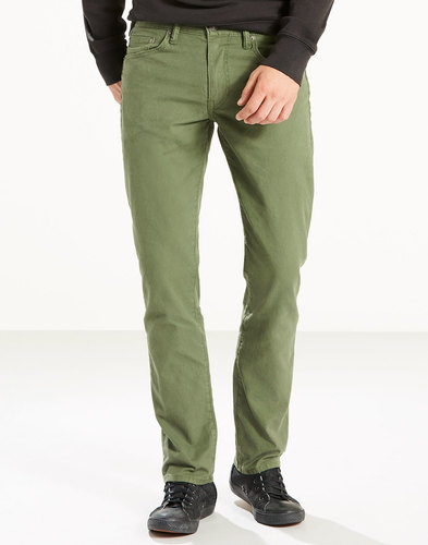 Levi's 511 Slim Fit Jeans in Green Moss Retro Jean