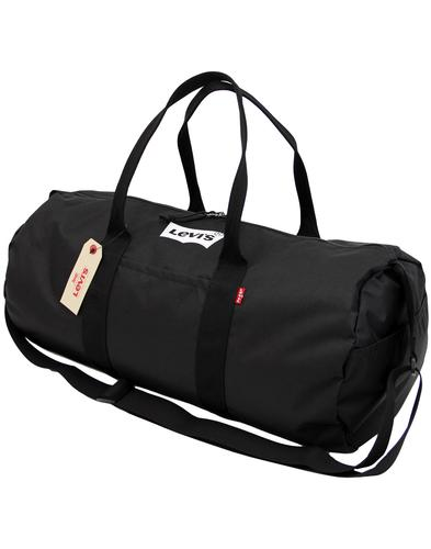 LEVI'S Retro 1970s Nylon Canvas Barrel Bag BLACK