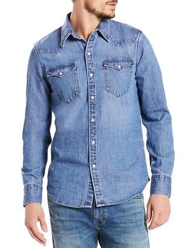 Barstow LEVI'S Retro 1970s Acid Indigo Denim Shirt
