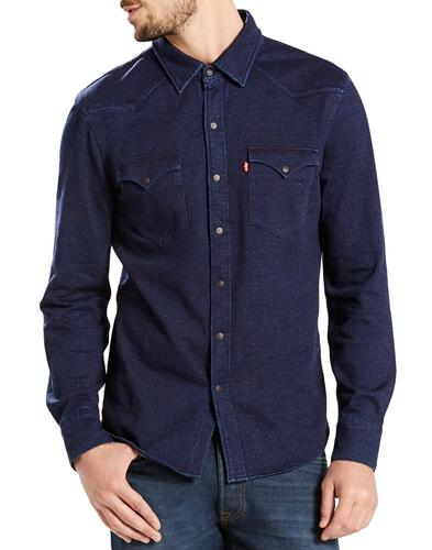 Barstow Knit LEVI'S Men's Retro Mod Western Shirt