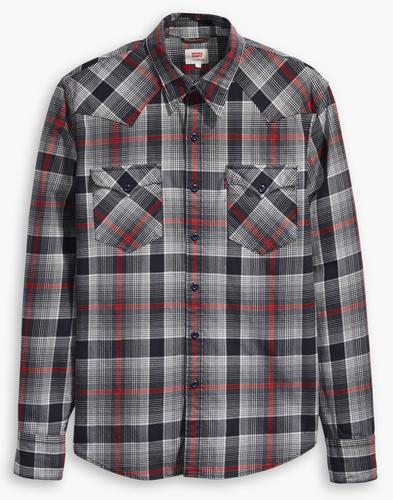 Barstow LEVI'S Retro 70s Plaid Check Western Shirt