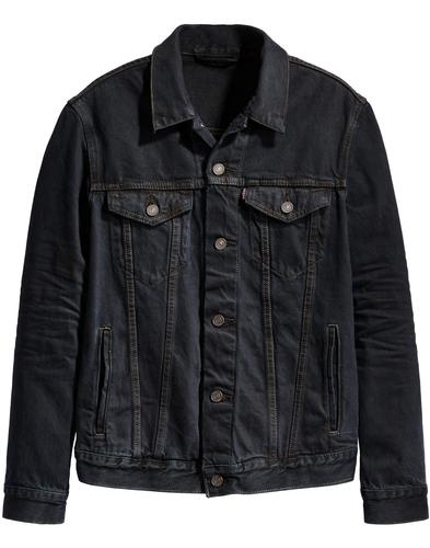 LEVI'S Mod Denim Trucker Jacket MIDNIGHT CARBON