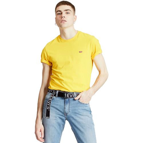 328d2942 Levi's Men's Retro Indie Original HM Small Logo T-shirt in Brilliant Yellow