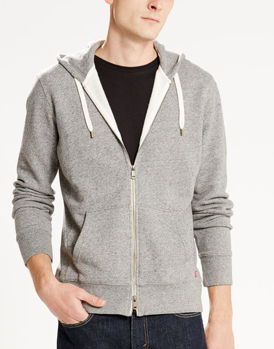 LEVI'S® Retro 70s Mens Original Hoodie in Grey