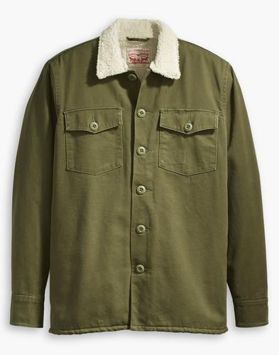 LEVI'S Men's Retro 70s Mod Military Sherpa Jacket