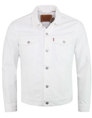 LEVI'S Mod White Denim Trucker Jacket STEEL HOUR
