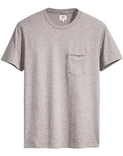 LEVI'S Retro Setin Sunset Pocket T-Shirt (Grey)
