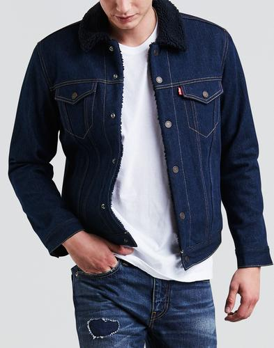 LEVI'S Type 3 Sherpa Denim Trucker Jacket INDIGO