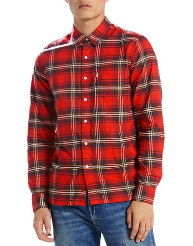 Sunset LEVI'S Retro Mod 1 Pocket Check Shirt (CR)