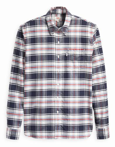 Sunset LEVI'S Retro Mod 1 Pocket Check Shirt (M)