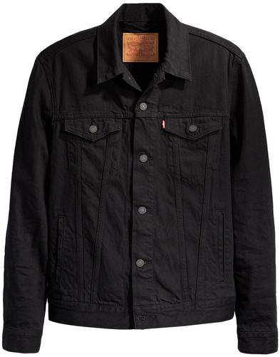 LEVI'S Mens Mod Berkman Black Denim Trucker Jacket