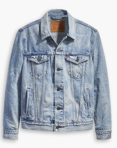 LEVI'S Retro Denim Trucker Jacket ROLLED UP DOLLAR