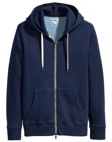 LEVI'S Men's Retro 70s Original Zip Up Hoodie (DI)