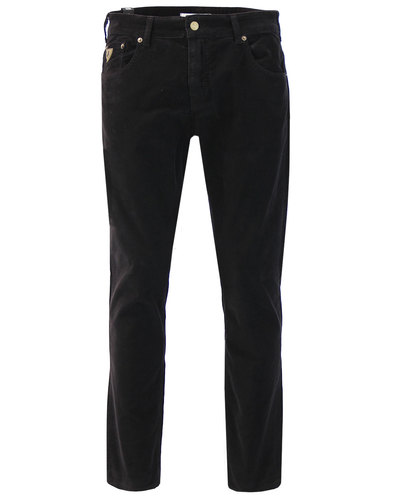 Sierra LOIS Mod Casuals Needle Cord Trousers BLACK