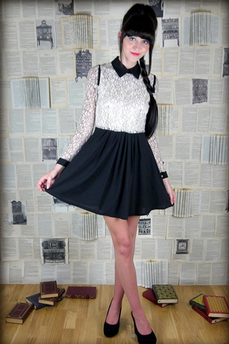 LOVESTRUCK RETRO VINTAGE LACE PARTY DRESS CARMEN