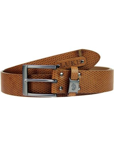 Blair LUKE 1977 Retro Texture Strap Leather Belt