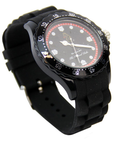 Grimaud LUKE 1977 Retro 1970s Sports Watch BLACK