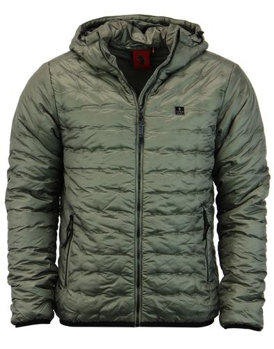Paddie LUKE 1977 Retro Padded Ski Jacket in Moss
