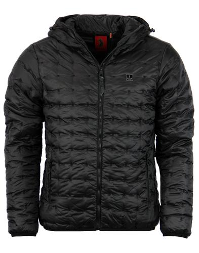 Paddie LUKE 1977 Retro Padded Ski Jacket in Black