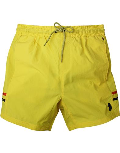 Ragy LUKE 1977 SPORT Men's Retro Swim Shorts Lemon