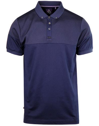 Ribeye LUKE 1977 Retro Mod Pinstripe Panel Polo N