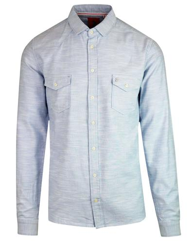 Bardon LUKE Retro Mod Space Dye 2 Pocket Shirt SKY