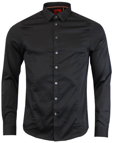 Butchers Pencil LUKE 1977 Mod Slim Fit Shirt BLACK