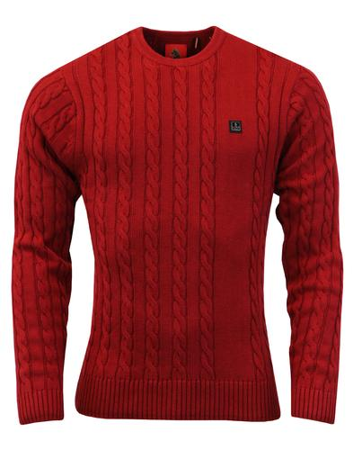 Hortons LUKE 1977 Retro Mod Cable Knit Jumper (C)