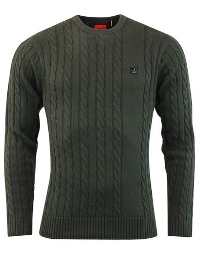Hortons LUKE 1977 Retro Mod Cable Knit Jumper (LK)