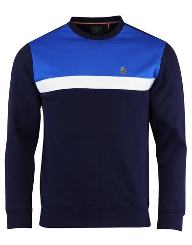 Micheal LUKE 1977 Retro Colour Block Sweatshirt