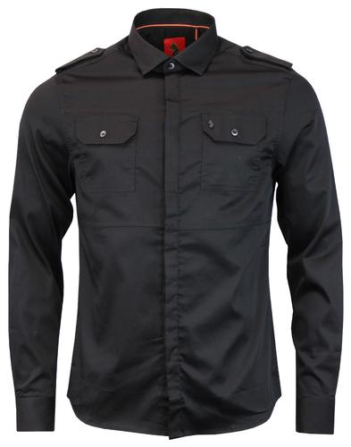 Serges LUKE 1977 Concealed Placket Military Shirt