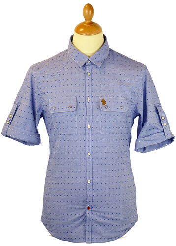 Yellow Beard LUKE 1977 Diamond Micro Gingham Shirt