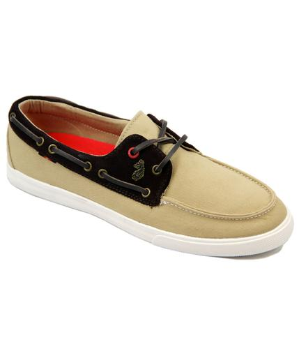 Dawsons Boat Shoe LUKE 1977 Retro Canvas Shoes S