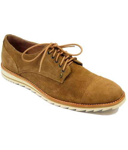 Turners Toe Cap LUKE 1977 Retro Mod Suede Shoes S