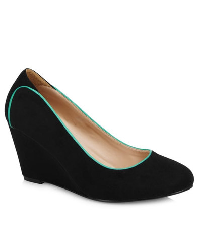 Sandra LULU HUN Retro Fifties Suedette Wedges