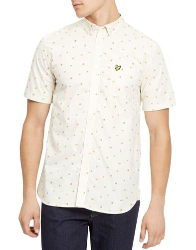 lyle and scott retro 1970s beach ball print shirt