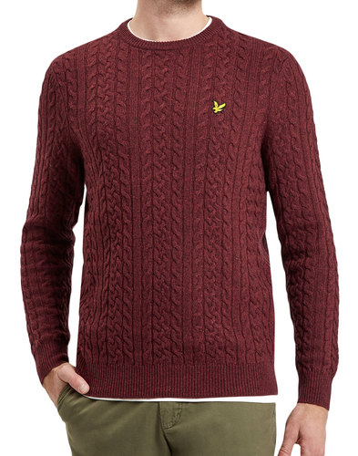 LYLE & SCOTT 60s Mod Lambswool Cable Knit Jumper C
