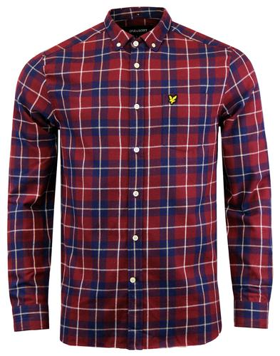 LYLE & SCOTT 60s Mod Button Down Plaid Check Shirt