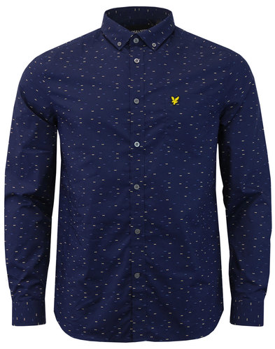 Coupe LYLE & SCOTT Retro 60s Mod Dash Print Shirt