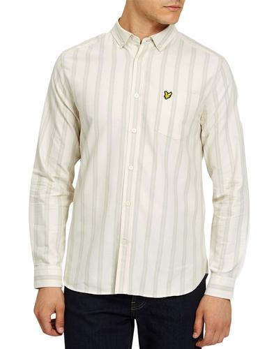 lyle and scott mod deckchair stripe oxford shirt