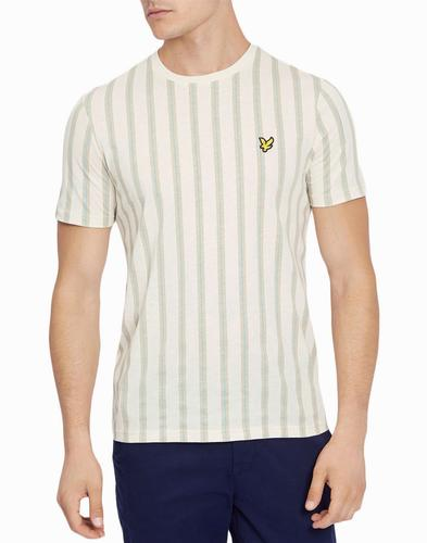 lyle and scott retro deckchair stripe tee seashell