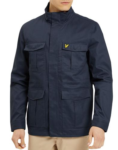 LYLE & SCOTT Retro Mod Military Field Jacket NAVY