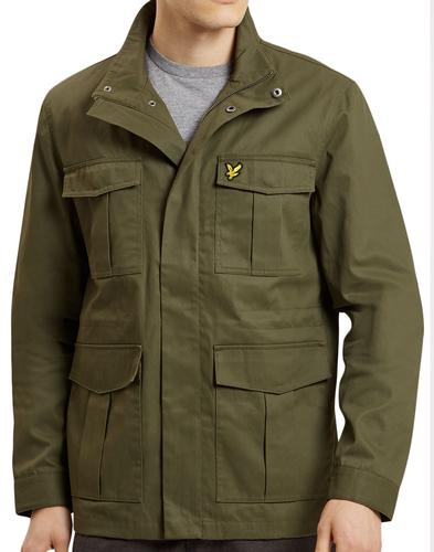LYLE & SCOTT Retro Mod Military Field Jacket OLIVE