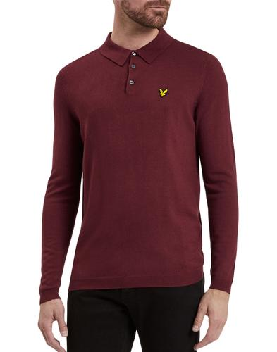 LYLE & SCOTT 60s Mod Long Sleeve Knitted Polo (C)
