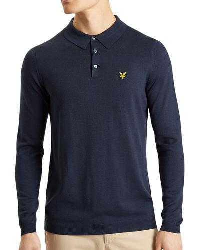 LYLE & SCOTT 60s Mod Long Sleeve Knitted Polo (N)