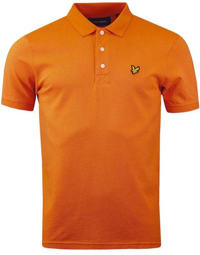 LYLE & SCOTT Mod Pique Polo Shirt (Fox Orange)