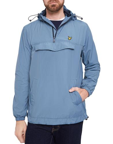 lyle and scott retro indie overhead jacket mist